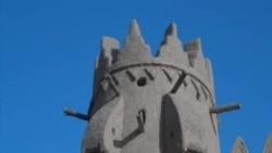 沙特青年学习建造传统房屋