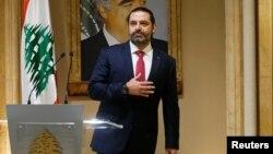 29 Ekim 2019, Beyrut, Lübnan - Başbakan Saad el Hariri