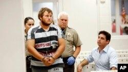Leslie Allen Merrit Jr. fue presentado ante un juez en la oficina del alguacil de condado de Maricopa y acusado de aterrorizar a la gente en Phoenix, Arizona.