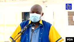 Vital Kemehe au premier jour de son procès dans la prison de Makala (CPRK), Kinshasa, RDC, 11 mai 2020. VOA/Capture d'écran