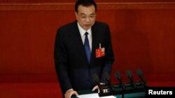 Thủ tướng Trung Quốc Lý Khắc Cường đọc báo cáo trước quốc hội nước này hôm 22/5