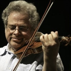 Itzhak Perlman playing a Stradivarius violin from the year 1714