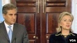 Američka državna tajnica Hillary Clinton i pakistanski ministar inostranih poslova Shah Mahmood Qureshi