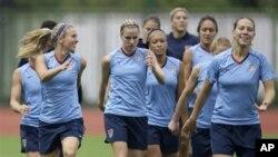 Американската женска фудбалска репрезентација се подготвува за Светското првенство