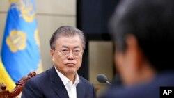 Tổng thống Hàn Quốc Moon Jae-in.