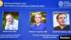 د نوبل د ۲۰۲۱ د اقتصاد د جایزې ګټونکي