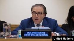 FILE - Mongi Hamdi, Special Representative and head of the U.N. Multidimensional Integrated Stabilization Mission in Mali (MINUSMA), said Thursday he will leave his post