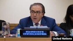 FILE - Special Representative and head of the U.N. Multidimensional Integrated Stabilization Mission in Mali (MINUSMA) Mongi Hamdi. (U.N. Photo/Devra Berkowitz)