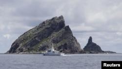 Tàu tuần của Nhật gần nhóm đảo Senkaku trong vòng tranh chấp mà Trung Quốc gọi là Điếu Ngư