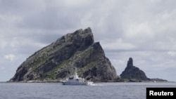 Tàu của cảnh sát biển Nhật Bản tuần tra gần nhóm đảo tranh chấp Senkaku/Điếu Ngư.