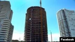 La construcción de la Torre Trump en Punta del Este, Uruguay, comenzó en 2014.