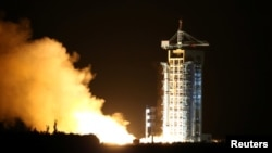 The world's first quantum satellite is launched in Jiuquan, Gansu Province, China, Aug. 16, 2016.