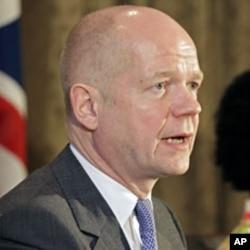 英国外交大臣黑格(资料照片)