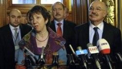 کاترین آشتون مسئول سیاست خارجی خارجی اتحادیه روز جمعه در پی دیداری با وزیر امور خارجه مجارستان گفت «تنها آژانس بین المللی انرژی اتمی مسئول بازدید از مراکز اتمی است».