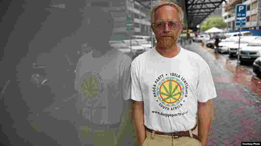 The man behind the Dagga Party is Jeremy Acton, a South African who wants to legalize marijuana. (Courtesy Dagga Party)