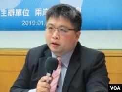 台湾国际法学会副秘书长林廷辉 (美国之音张永泰拍摄)