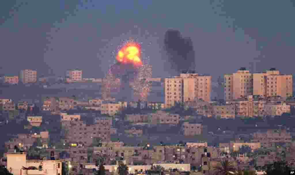 Ataque israelí contra los milicianos de Hamas, en la franja de Gaza, en noviembre.