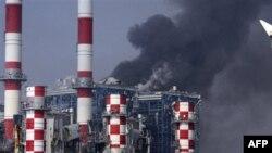 Электростанция, выведенная из строя взрывом боеприпасов. Мери, Кипр. 11 июля 2011 года