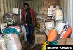 Recolha de produtos em apoio vitimas ciclone na Beira