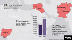 Report on Rise in Terrorism - 2012 - 2013.