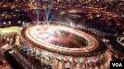 Stadion di London yang akan dijadikan tempat upacara pembukaan dan penutupan Olimpiade 2012.