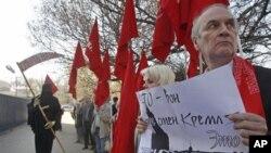 Partai Komunis Rusia memprotes rencana pemberian fasilitas logistik untuk NATO di Rusia untuk transportasi senjata dari dan ke Afghanistan (foto: dok).