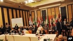 阿拉伯國家聯盟成員國星期天在開羅就敘利亞問題舉行會議