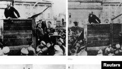 Stalinin hakimiyyəti dönəmində repressiyaya məruz qalmış sabiq partiya və dövlət xadimlərinin bütün izlərinin rəsmi sənədlərdən silinməsi normaya çevrilmişdi.