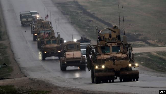 叙利亚北部的美国军车队(2018年12月30日)