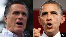 Tổng thống Obama và cựu thống đốc bang Massachusetts Mitt Romney