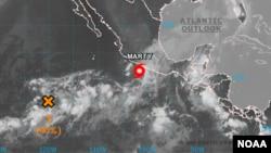 Posición del huracán Marty en la madrugada de este martes. [Foto: Centro Nacional de Huracanes de EE.UU.].