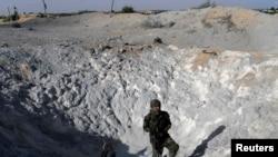 6月29日遭到以色列火箭攻击的加沙地带
