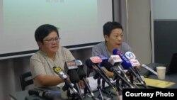 香港記協主席岑倚蘭(左)(資料圖片)