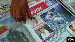 Kelompok 'Reporter without Borders' memuji peningkatan kebebasan pers di Burma (foto: dok).