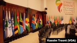 La salle de conférence du sommet France-Afrique à Bamako, Mali, 12 janvier 2017.