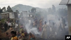 Kamp Mugunga di luar kota Goma merupakan tempat penampungan ribuan warga yang kehilangan tempat tinggal (foto: 26/11).