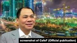 Tỷ phú Phạm Nhật Vượng, người giàu nhất Việt Nam với khối tài sản trị giá 9,1 tỷ USD, có tham vọng bán xe ô tô 'Made-in-Vietnam' vào thị trường Mỹ.
