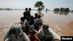 洪水災民被撤離