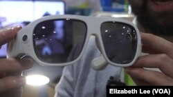 A screenshot shows eyewear made by Orbi that shoots 360 video.