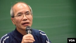 時事評論員劉銳紹 (美國之音湯惠芸拍攝)