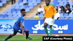 La Côte d'Ivoire face à la Namibie, le 14 janvier 2018 au Maroc, lors du CHAN 2018.