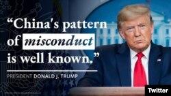 Phát biểu của Tổng thống Donald Trump về Trung Quốc. Twitter US Department of State