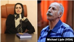 Iranian lawyer Zeynab Taheri and her client Mohammad Salas, a Dervish man executed by Iran on June 18, 2018.