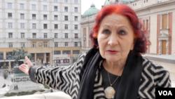 Vida Ognjenović, nekadašnja upravnica Narodnog pozorišta u Beogradu (Foto: VOA)