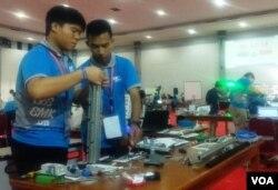 Sebanyak 759 siswa SMK se-Indonesia berkompetisi dalam berbagai keahlian di Yogyakarta. (Foto:VOA/Nurhadi)
