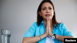 María Corina Machado está supuesta a declar este lunes en relación con presuntos planes de magnicidio en Venezuela.