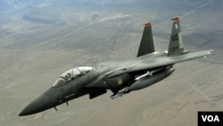 Pesawat tempur F-15, salah satu persenjataan tempur yang dijual AS kepada Arab Saudi.