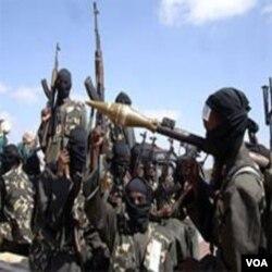 Kelompok militan Al-Shabab di Somalia, yang diduga mempunyai hubungan dengan terdakwa Mohamed Geele.