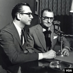 Willis Conover in the studio with Irving Berlin