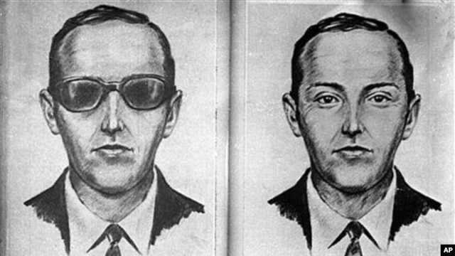 An artist's sketch released by the FBI of the skyjacker known as 'Dan Cooper' and 'D.B. Cooper', from the recollections of passengers and crew of a Northwest Orient Airlines jet he hijacked between Portland and Seattle, Nov. 24, 1971